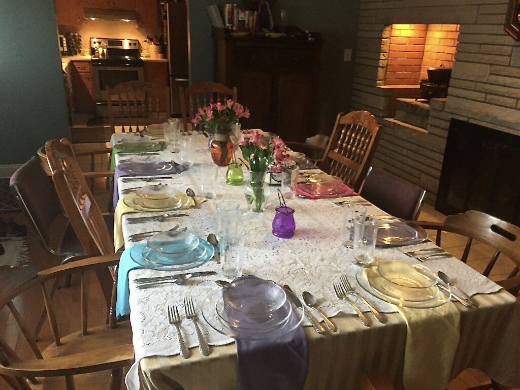 Mom's Easter Sunday Lunch Table