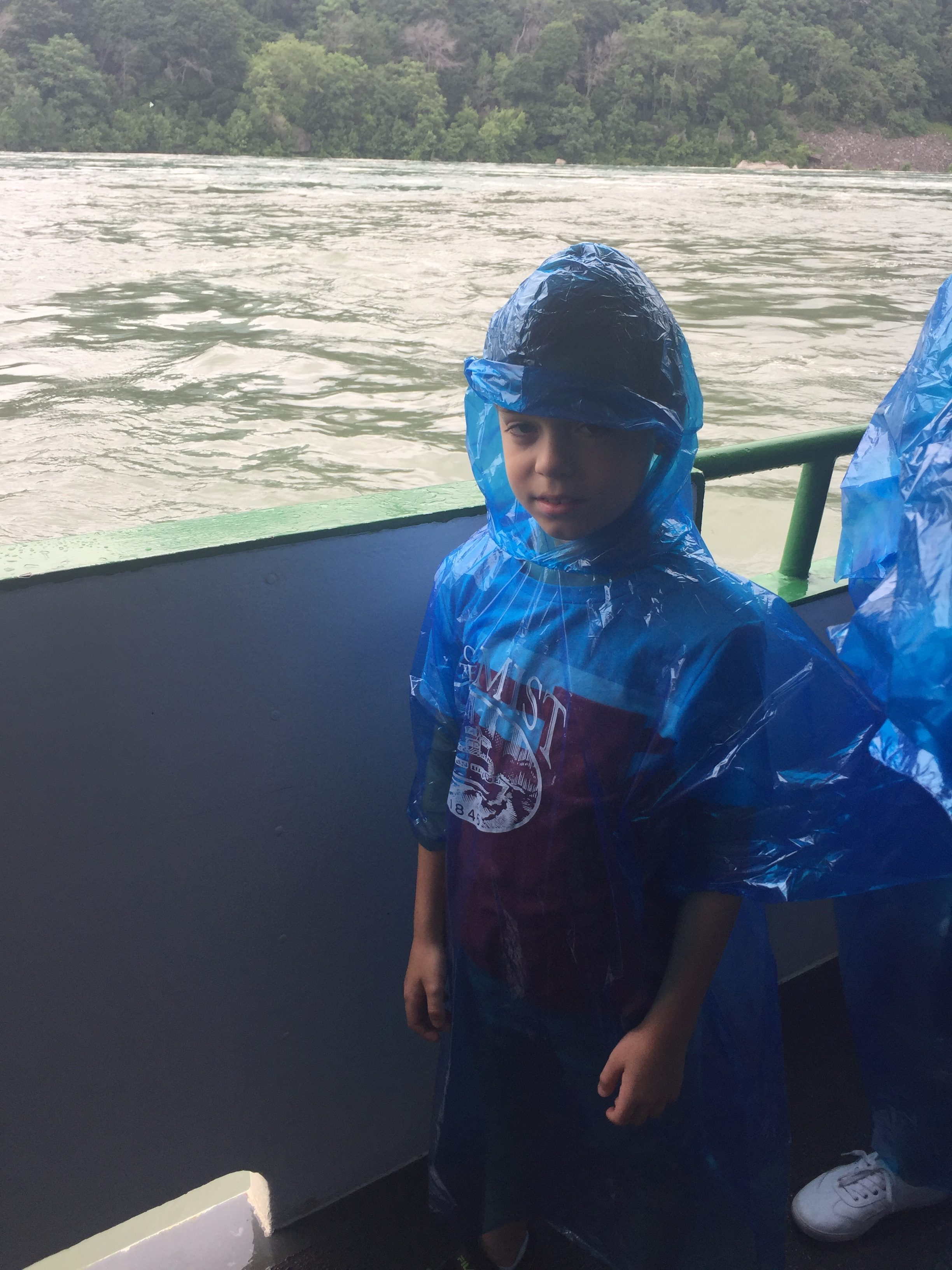 Adry at Niagra Falls with his dad and Grandma Ellwood